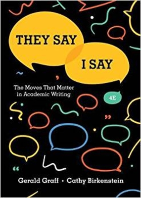 they say i say the moves that matter in academic writing with readings by russel durst They say / i say: the moves that matter in academic writing with readings (second edition) by gerald graff, cathy birkenstein, russel durst and a great selection of.