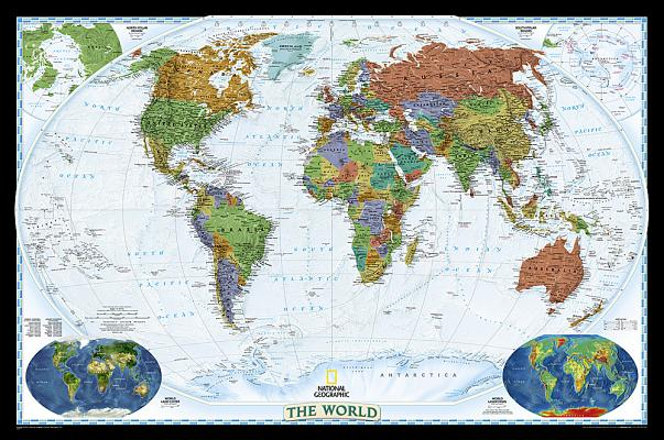 National geographic world decorator wall map laminated 46 x national geographic world decorator wall map laminated 46 x 305 inches by national geographic maps reference opentrolley bookstore singapore gumiabroncs Choice Image