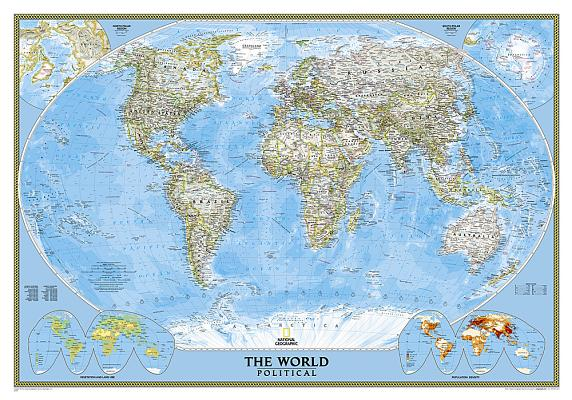 National geographic world decorator wall map laminated 46 x 305 national geographic world classic wall map laminated 435 x 305 inches publicscrutiny Images
