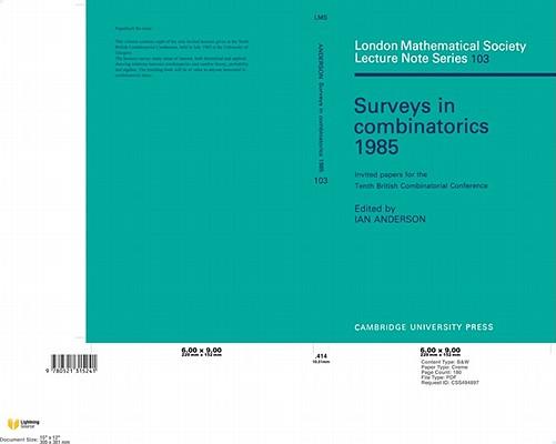 surveys in combinatorics 1997 bailey r a